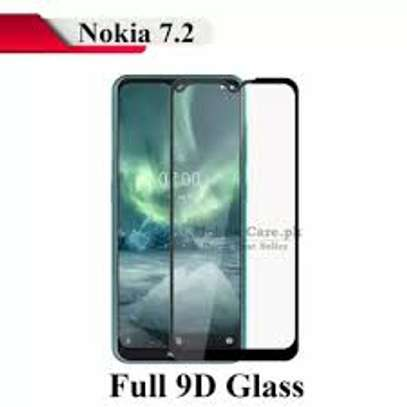 5D HD Clear Tempered Glass Front Screen Protector for Nokia 7.2 image 2