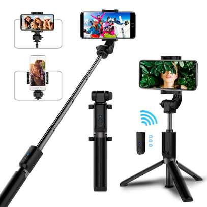 K05 Selfie Stick Tripod Stand 4 in 1 Extendable Monopod Bluetooth Remote Phone Mount for iPhone X 8 Android Gopro image 3