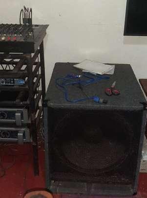PA Public Address System, Amp, Crossover Mixer Speaker image 2