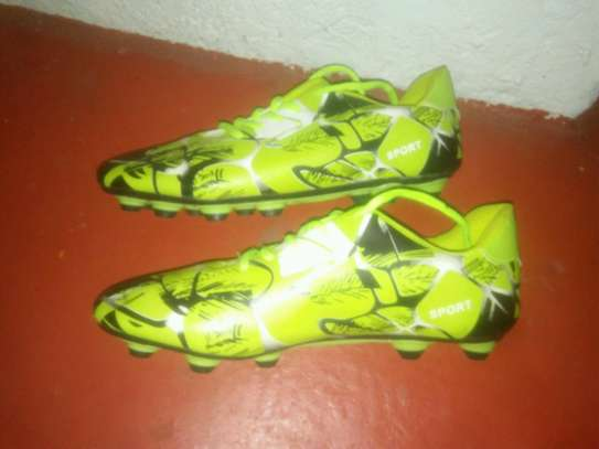 Football boots.