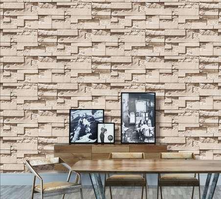 rustic effect self-adhesive wall paper image 2