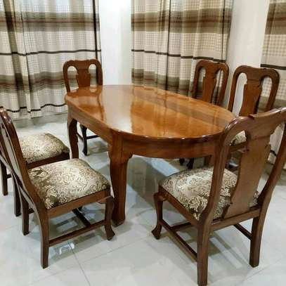6 seaters antique dining set