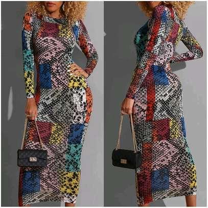 Snake Print Dress image 1