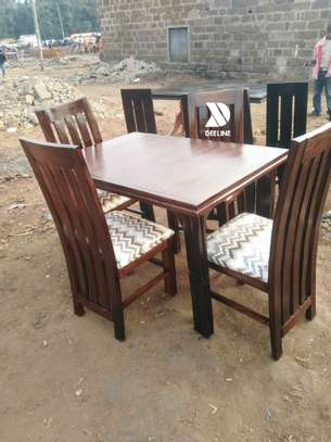 4 seater Mahogany Frame dining set. image 2
