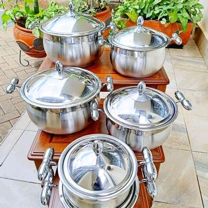 Prandelli 6 piece stainless steel cookware. image 1