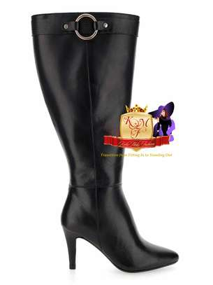 Leather Wide Fit Super Curvy Boots image 2