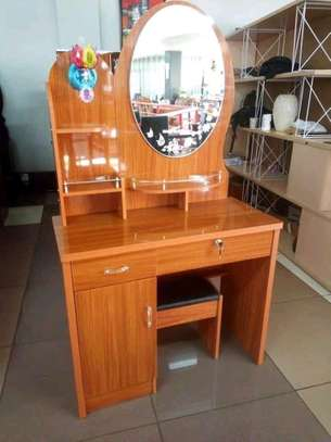 Dressing table with a mirror.