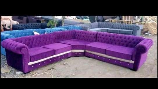 Purple unique Chesterfield sofa image 1