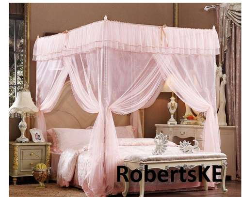 dull pink Mosquito nets
