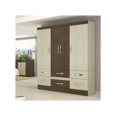 Wardrobe with 6 Doors & 2 Drawers - Moval , Hazelnut & Almond image 1