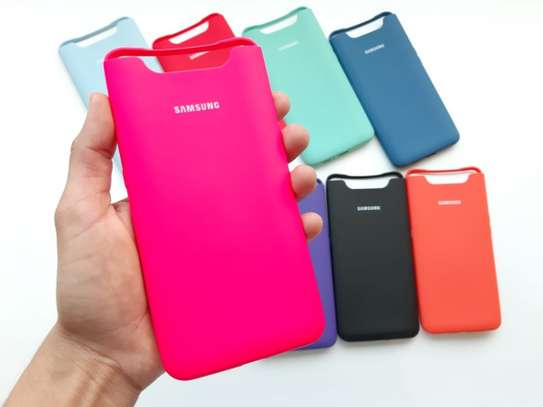 Silicone case with Soft Touch for Samsung A80 image 7