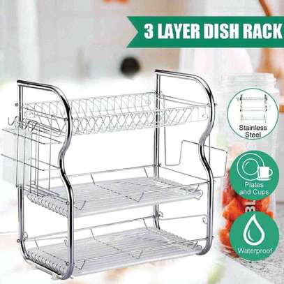 Generic 3Tier Stainless Steel Dish Drainer Dry Rack image 2