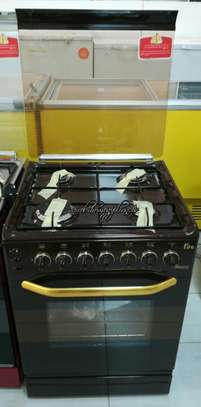 Ramtons 4 Gas Burner 55x55cm Cookers - Dark Brown