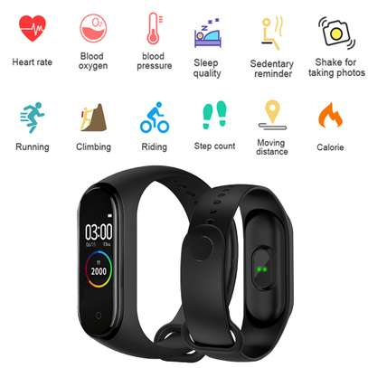 Smart Fitness Watch Bracelet M4 Tracker Band Activity Heart Rate Monitor image 8