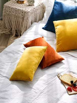 QUALITY PLAIN SWEDE THROWPILLOWS AND CASES image 1