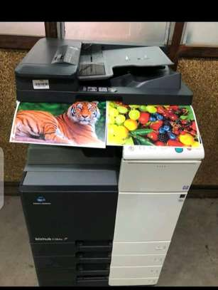 Fully featured Konica minolta bizhub C364E colored photocopier machine image 2