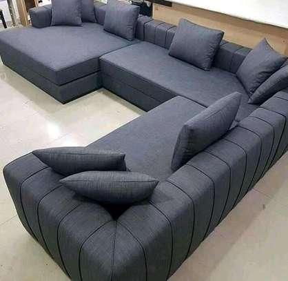 8-seater unique L shaped sofa image 1
