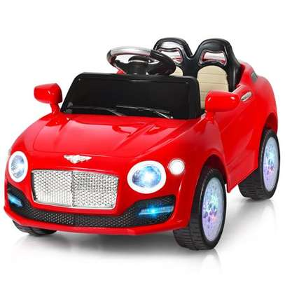 Bentley Kids Ride On Electric Battery Power Remote Control Car- RED