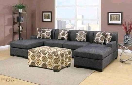 Versatile Modern U-shaped Sectional Sofa image 1
