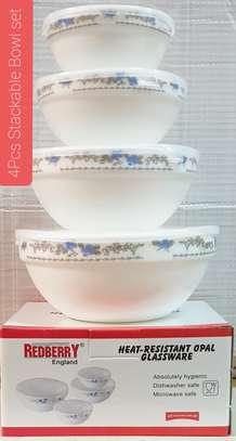 4 pcs stackable Bowls image 2