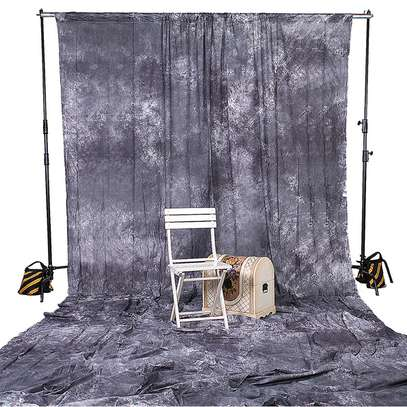 Gray Backdrop Muslin Photo Background Photography Grey Cloth (3m by 6m image 1