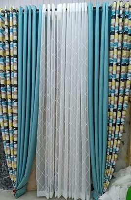 window curtains blue prints image 1