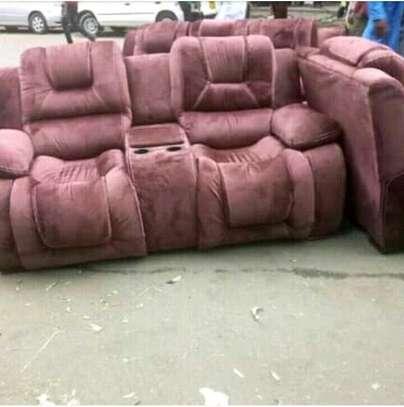 Recliner sofa set image 1
