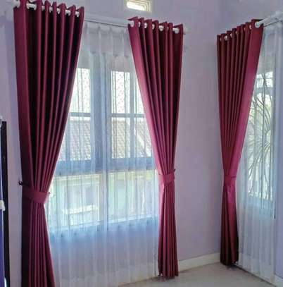 colourful curtains and sheers. image 1