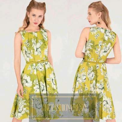 Lime Yellow Floral Skater