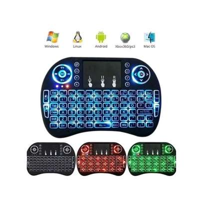 Mini 2.4GHz Mini Wireless Keyboard w Touchpad Mouse, LED Backlit image 1