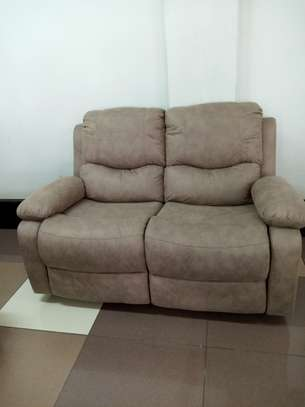 Recliner leather sofa image 2