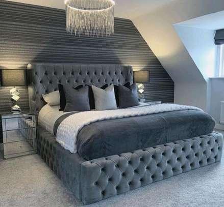 Grey beds/tufted beds/modern king size  beds image 1