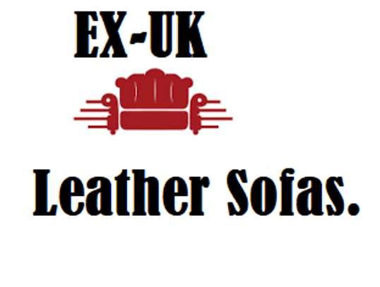 EX-UK LEATHER SOFAS.