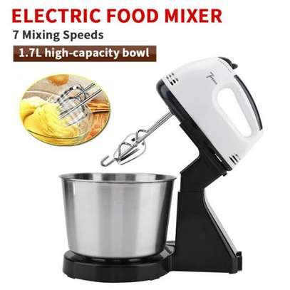Electric handmixer with bowl and stand image 1
