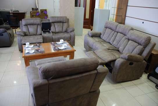 Palvi Mocha Plus 6 Sitter Recliner Sofa Set With Center Console