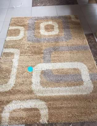 5*8 light  brown shaggy carpet image 1