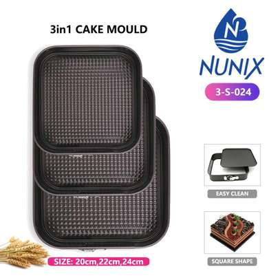 3 in 1 Cake Mould set image 1