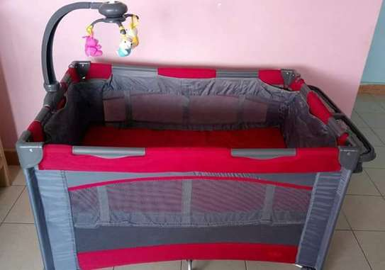 Red Play Pen