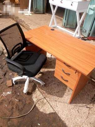 Free office table and mesh chair
