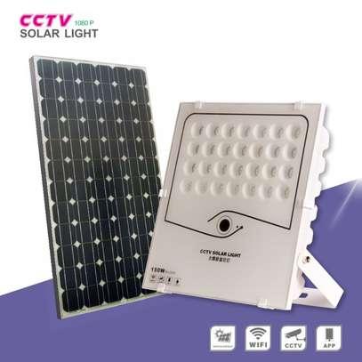 150watts solar cctv flood light IP camera.Waterproof and 1080 HD videos image 2
