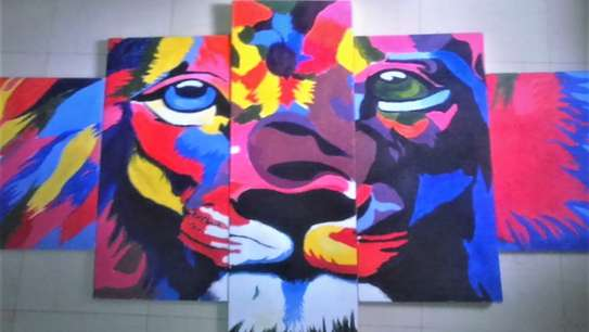 Abstract Lion Series Painting