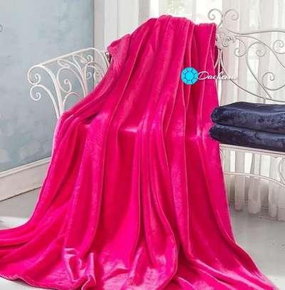 pink coral fleece blanket image 1