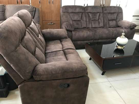 Affordable fabric recliner sofa sets image 1