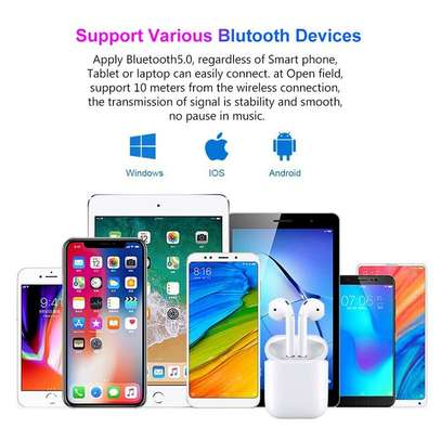 i12 TWS Airpods wireless Bluetooth Earphone Bluetooth 5.0 Earbuds sport Headset image 4