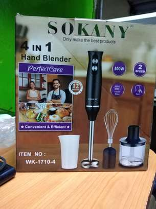 Sokany 4 in 1 Blender--500W Text you copy will automatically show here image 1