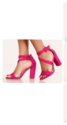 Pink Basic Ladies Pumps Open Toe Formal/Casual Shoes image 1