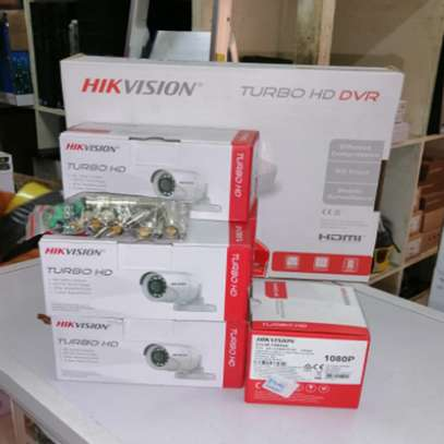 6 Six Hikvision 720p 1mp Complete CCTV Cameras System Package image 2