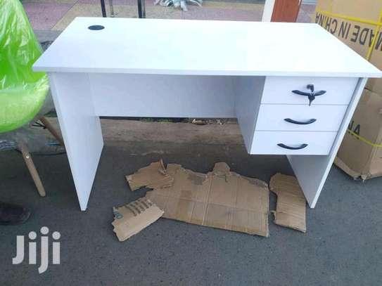 Laptop working desk white image 1