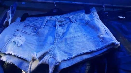 Blue booty short image 1