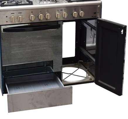 ELBA 4 GAS+ 2 ELECTRIC + GAS COMPARTMENT STAINLESS STEEL ELBA COOKER- EB/165 image 3